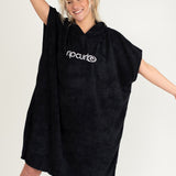 Rip Curl 'Surf Essentials' Hooded Towel Robe in Black