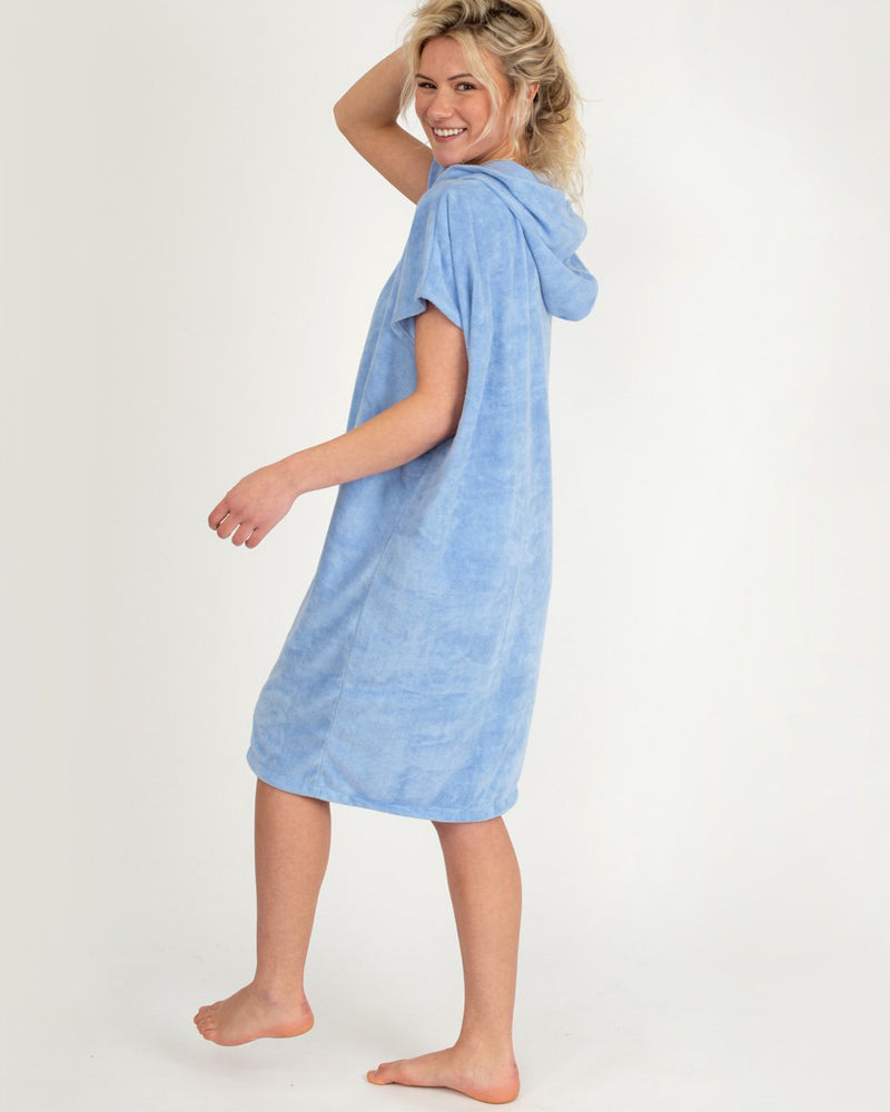 Rip Curl 'Surf Essentials' Hooded Towel Robe in Pastel Blue