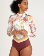 Rip Curl 'Tallows' Long Sleeve Tropical Surf Suit