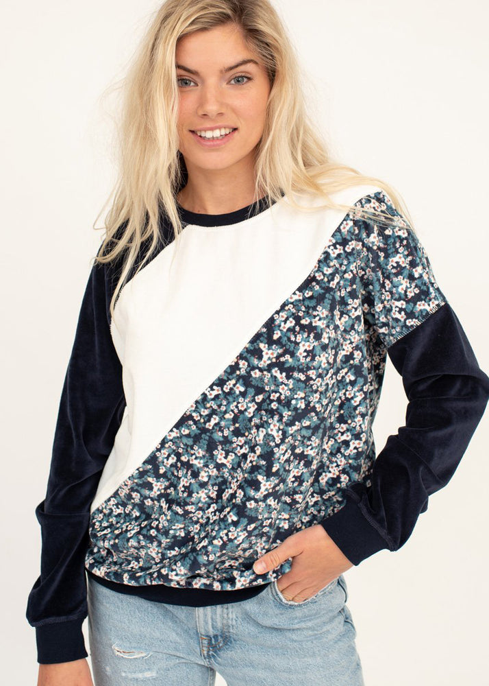 Roxy 'Surf Spot' Velour Sweatshirt