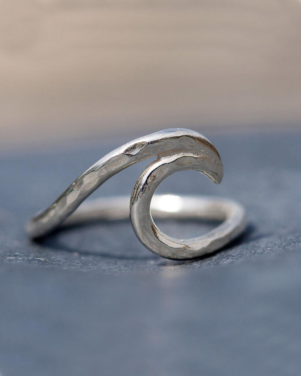 SurfGirl Beach Boutique Spindrift Sterling Silver Wave Ring Ocean Sea