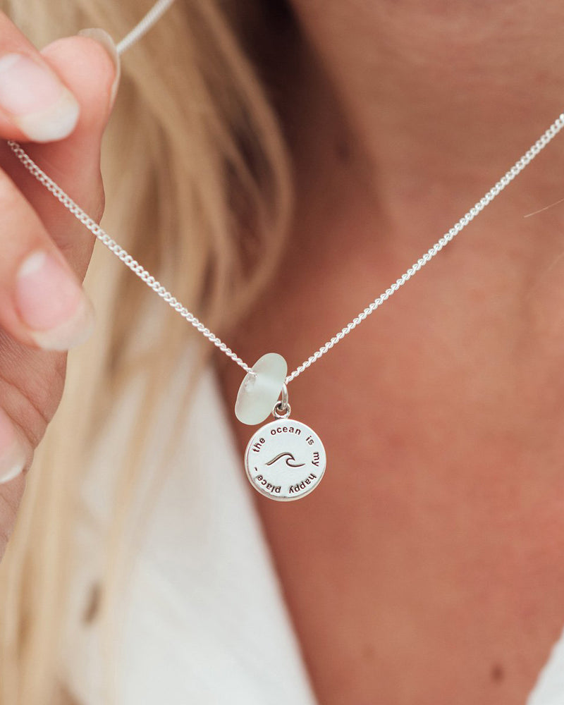 'Happy Place' Spindrift X SurfGirl Collab Necklace