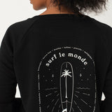 SurfGirl 'Surf Le Monde' Sweater in Black