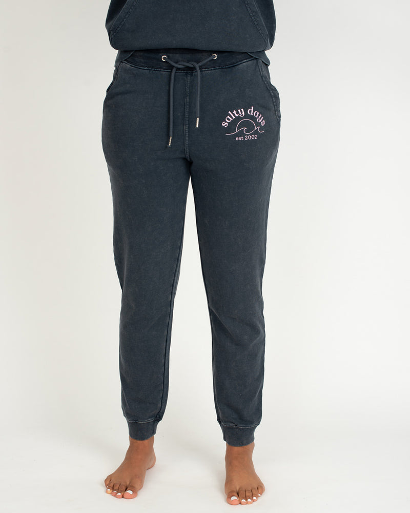 SurfGirl 'Salty Days' Eco Joggers in Salt Washed Ink