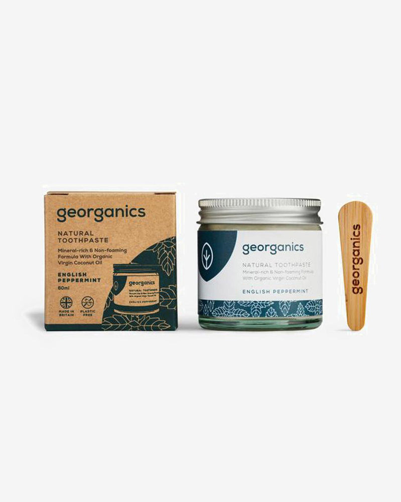 SurfGirl Beach Boutique Georganics 100% Natural Toothpaste - English Peppermint 60ml Plastic Free Eco Friendly Living Bathroom