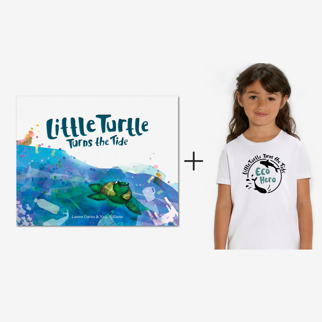 'Little Turtle Turns The Tide' Children's Book + Eco Hero T-Shirt