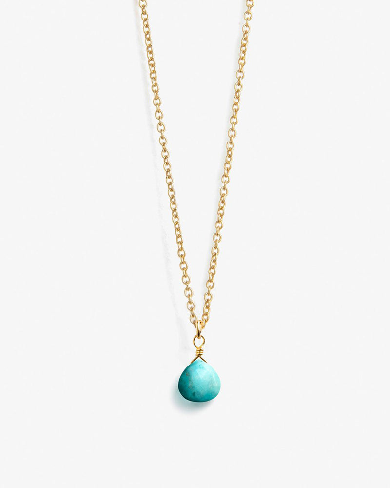 Turquoise Gold Chain Necklace by Wanderlust Life