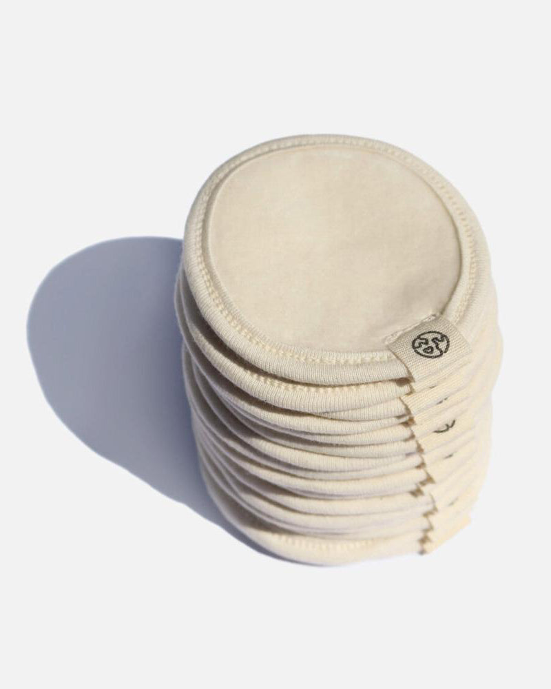 Eco Friendly Zero Waste Club Organic Cotton Reusable Facial Pads & Wash Bag - Pack of 16