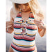SurfGirl Beach Boutique Billabong Easy Daze Stripe Striped One Piece Swimsuit