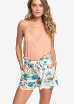 Roxy 'The South Side' High Waisted Tropical Shorts