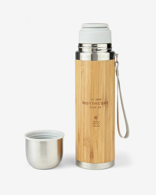 SurfGirl Beach Boutique Northcore Bamboo Stainless Steel Thermo Flask