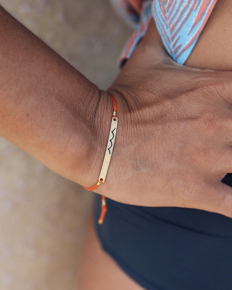 At.Aloha - Wavy Bracelet in Orange