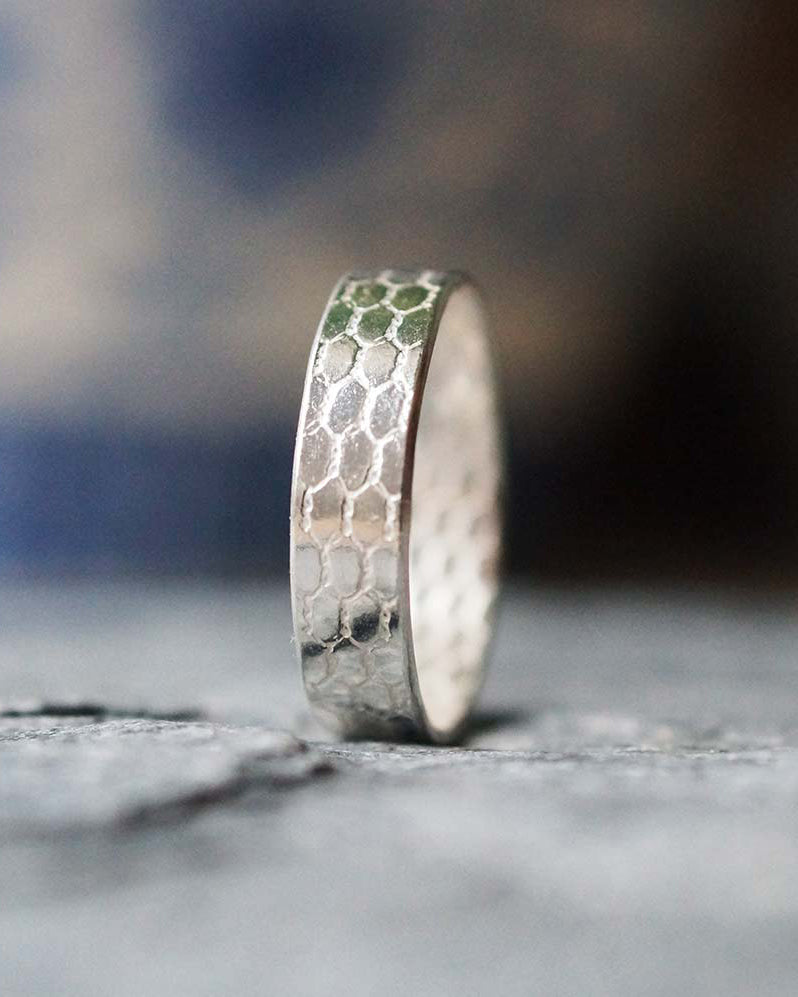 Sadie Jewellery Thin Mermaid Scale Ring