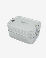 Stainless Steel Two Tier Lunch Box with Mini Container by A Slice of Green