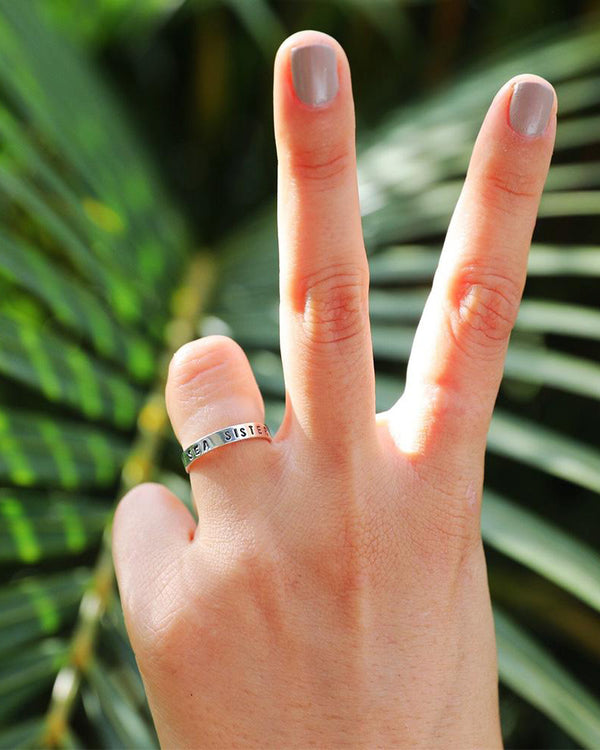 SurfGirl Beach Boutique At Aloha Sea Sister Sterling Silver Ring Jewellery
