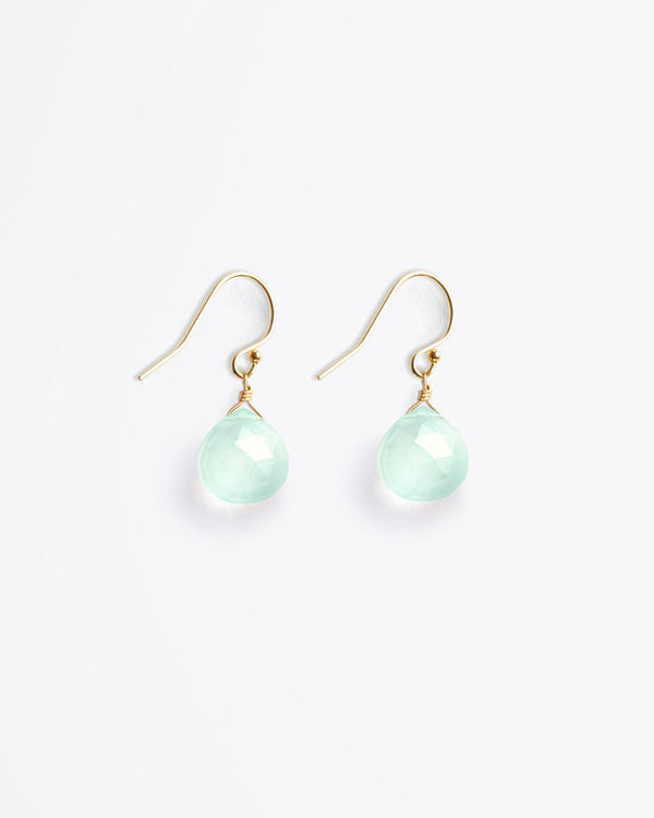 SurfGirl Beach Boutique Ladies Wanderlust Life Isla Drop Sea Glass Chalcedony Earrings Jewellery