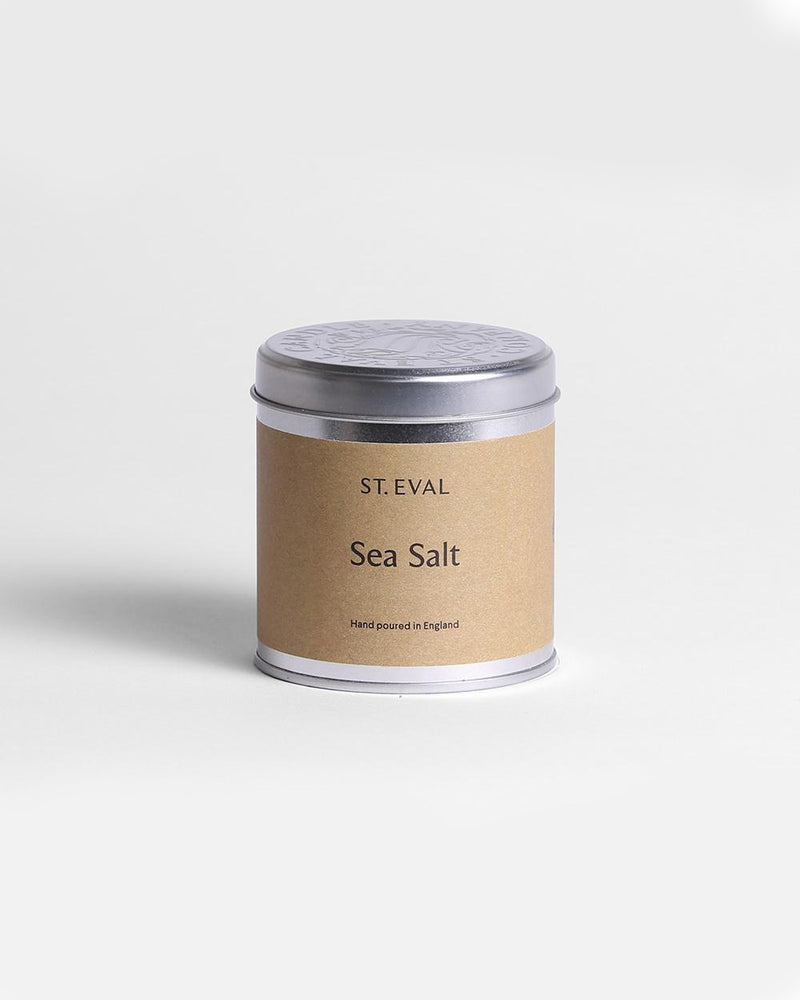 'Sea Salt' Scented Tinned Candle by St Eval