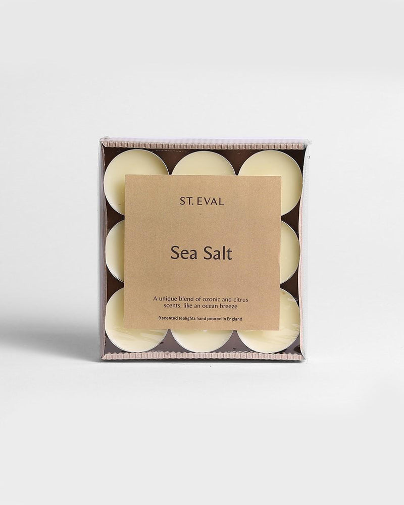 'Sea Salt' Scented Tea Lights Pack by St Eval