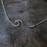 Sadie Jewellery Whipsiderry Wave Necklace - Sterling Silver