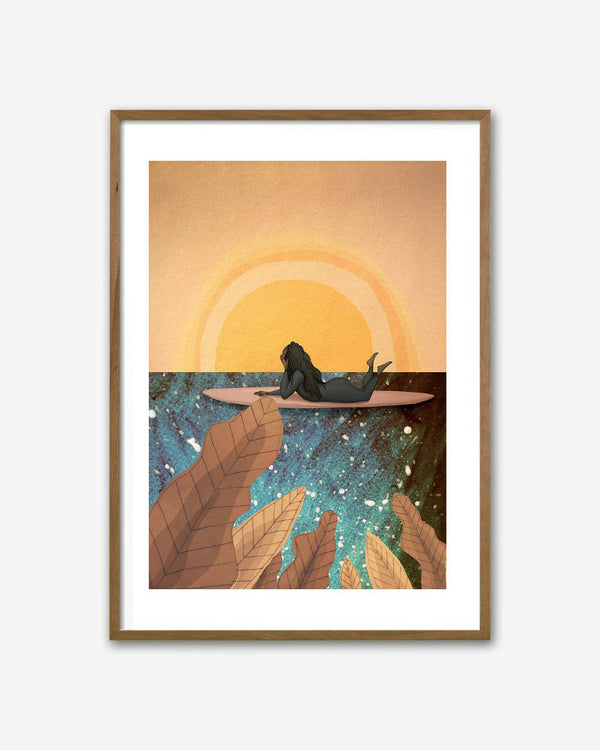 SurfGirl Beach Boutique Maia Walczak 'Sun Dreamer' A4 Print Artwork Wall Art Home Decor Artist
