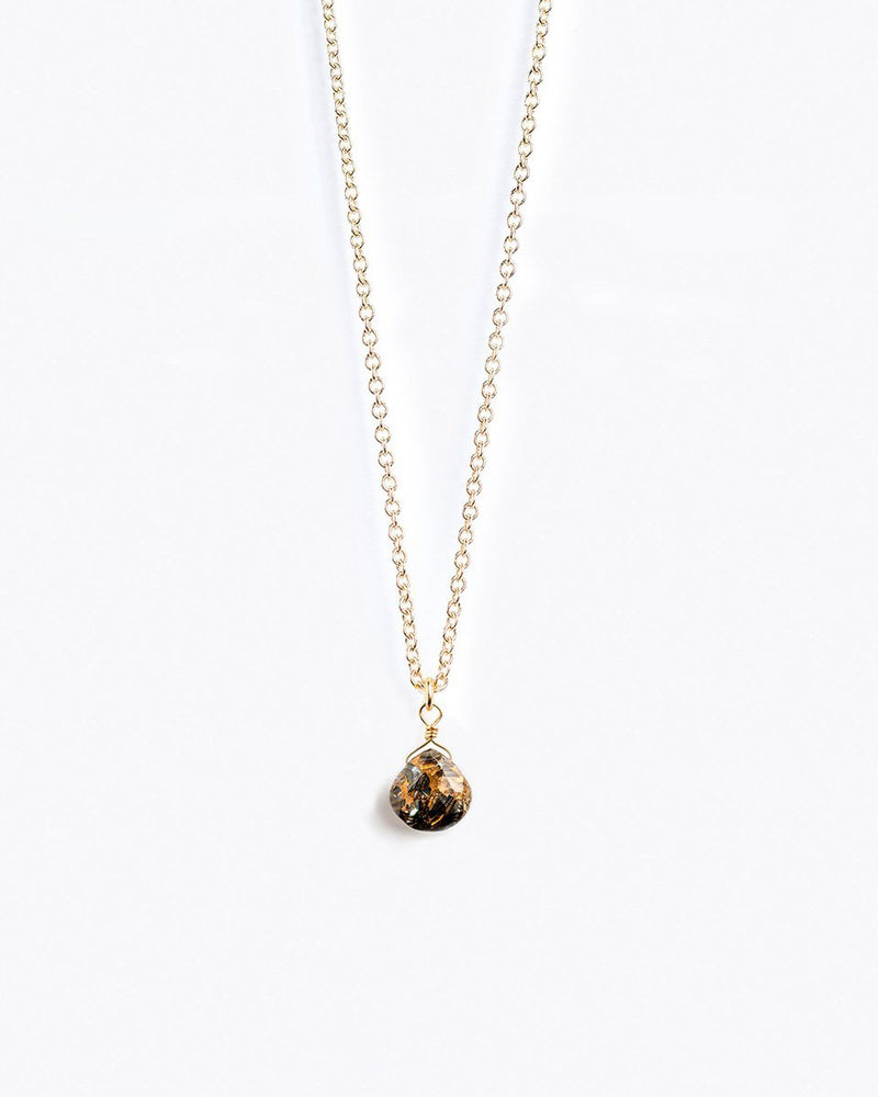Paua Gold Chain Necklace by Wanderlust Life