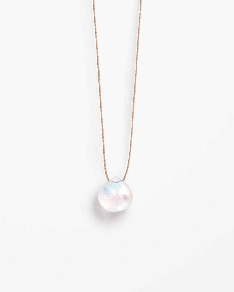 Rainbow Moonstone Fine Cord Necklace by Wanderlust Life