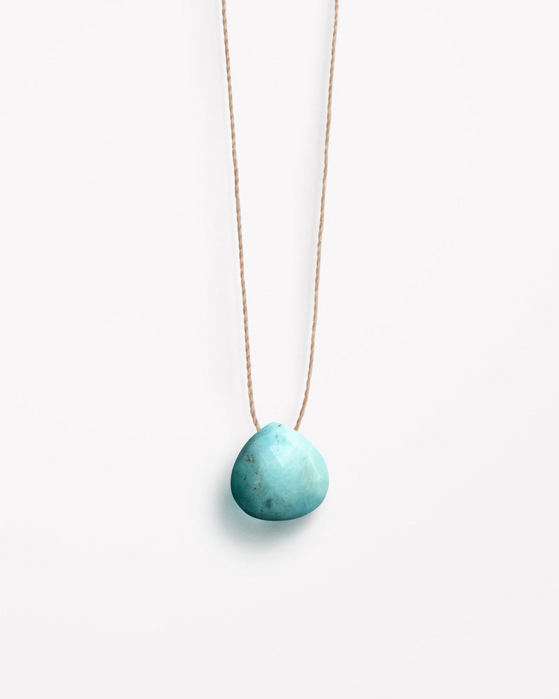 Arizona Turquoise Fine Cord Necklace by Wanderlust Life