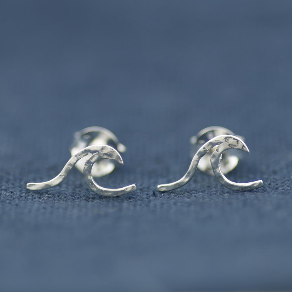 Spindrift Wave Earrings