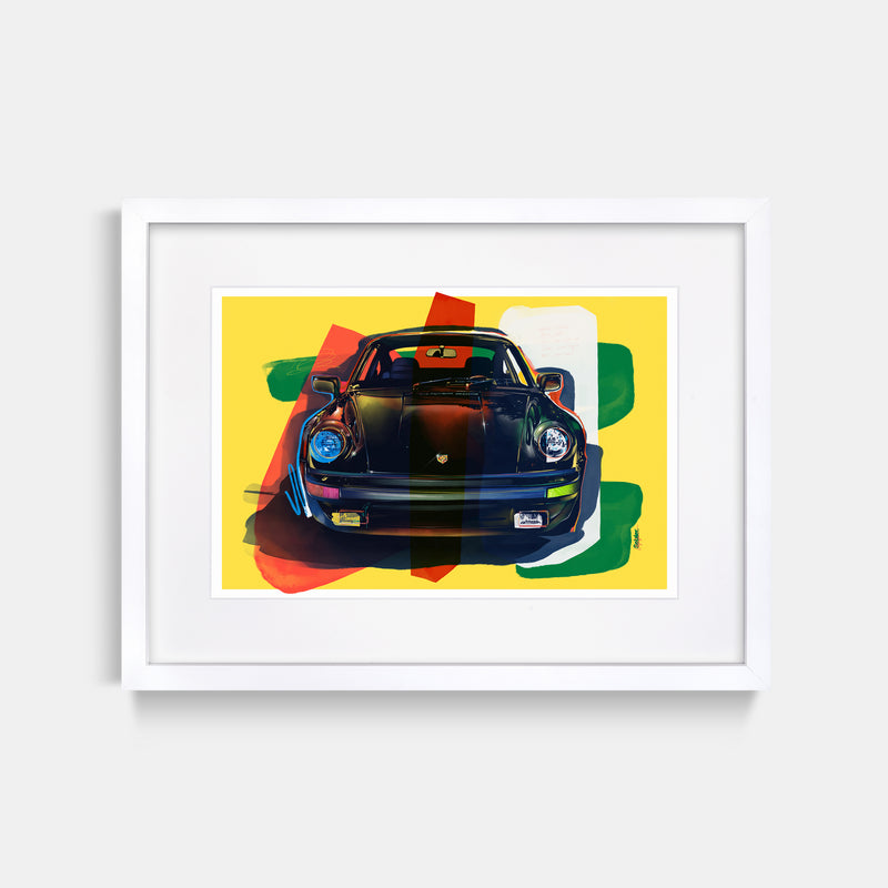 Turbo Print by Stephen Selzler White Frame