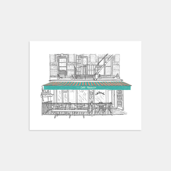 Cafe Mogador of the East Village Art Print