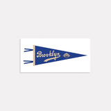 Brooklyn Dodgers Pennant Illustration Print