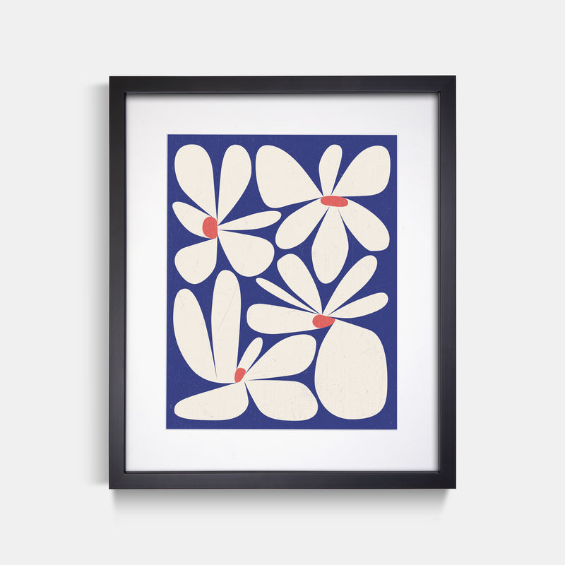 Flower Abstract Art Print Thomas Heinz Black Frame