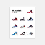 Air Jordan 1 Collage Print Illustration