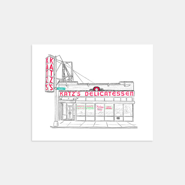 Katz's Deli of New York City Art Print