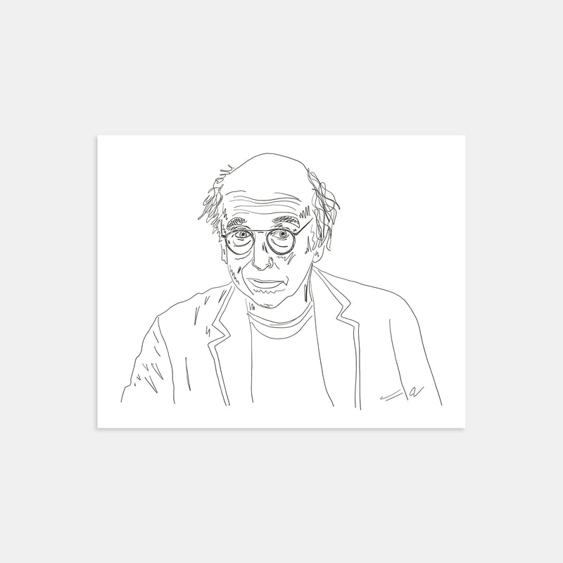 Larry David Illustration Print
