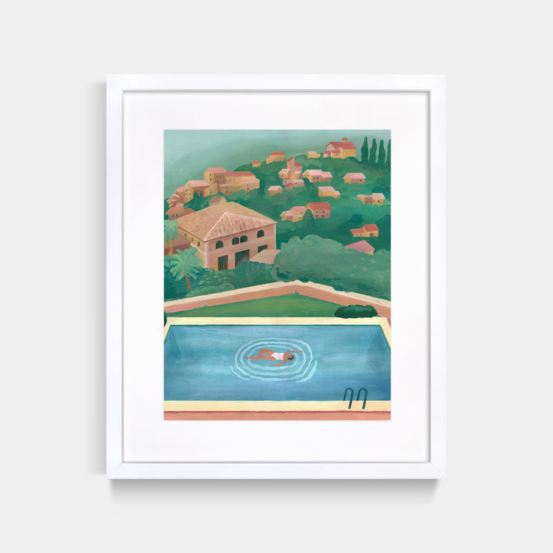 Mallorca Swimming Pool Painting Print