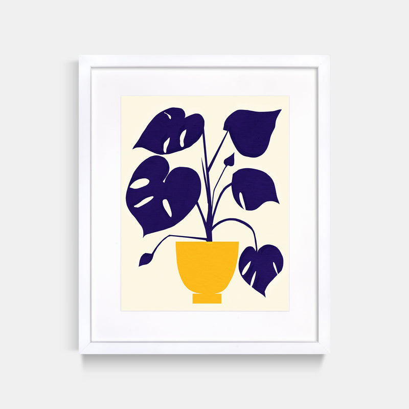 Monstera Art Print White Frame By Jordan Lee