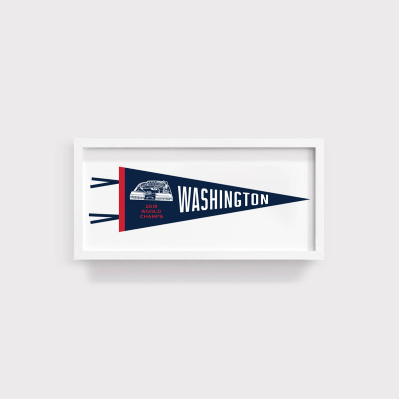 Washington Nationals World Series Champs Pennant Print With White Frame