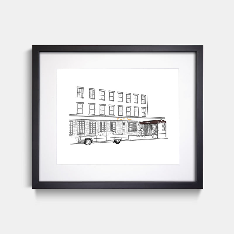 Peter Luger Steakhouse Art Print