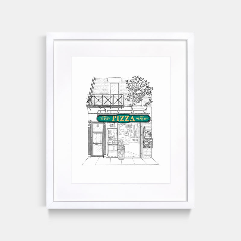 Prince St Pizza Art Print