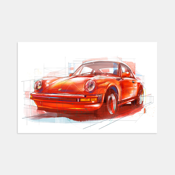 Classic Porsche 911 Red by Stephen Selzler