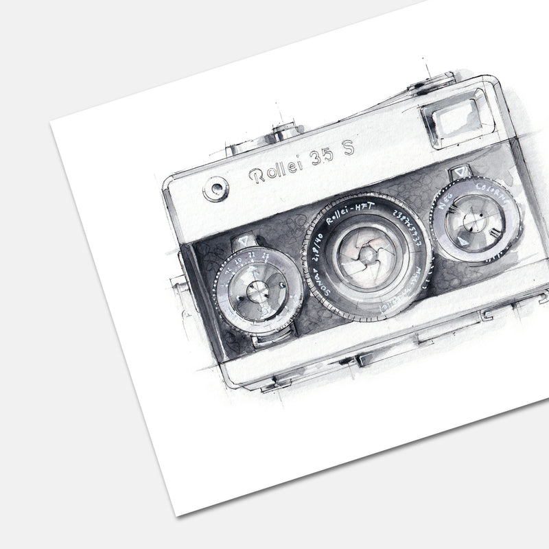 Rollei Camera Print by Stefan Saak