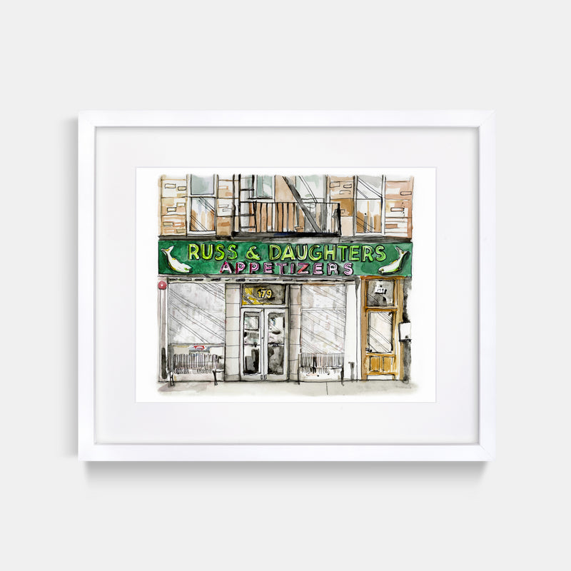 Russ & Daughters' Watercolor Art Print
