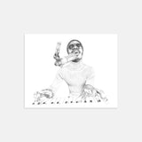 Stevie Wonder Hand Drawn Illustration in Recording Studio Print Only