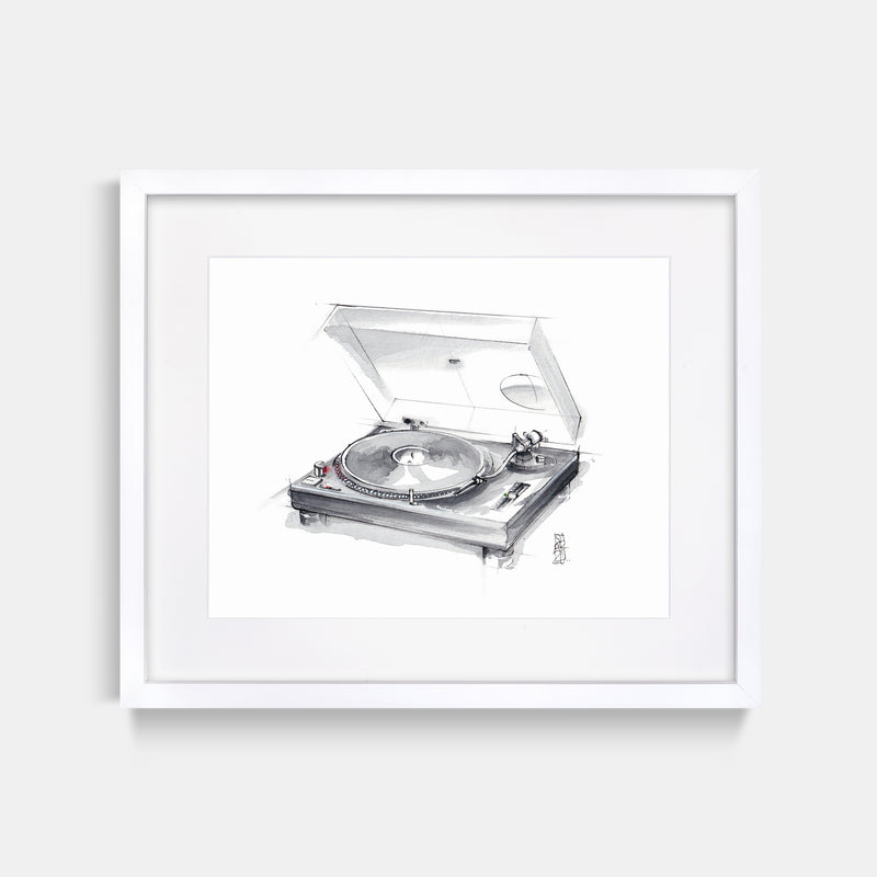 Technics 1200 Turntable Print by Stefan Saak