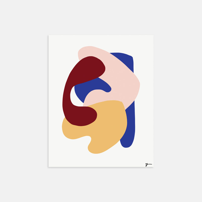Abstract art illustration print by Yada Studio