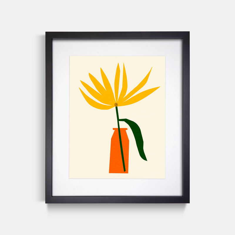 Wildflower Art Print Black Frame By Jordan Lee