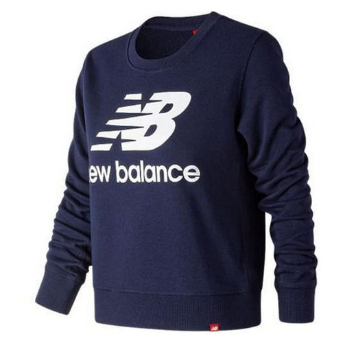 Women's Sweatshirt without Hood New Balance WT91585PGM Navy blue