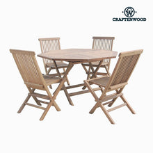 Load image into Gallery viewer, Table set with 4 chairs Teak Octagonal by Craftenwood
