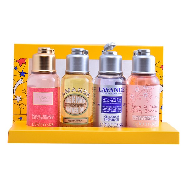 Unisex Cosmetic Set Quator Showers Gels L´occitane (4 pcs)